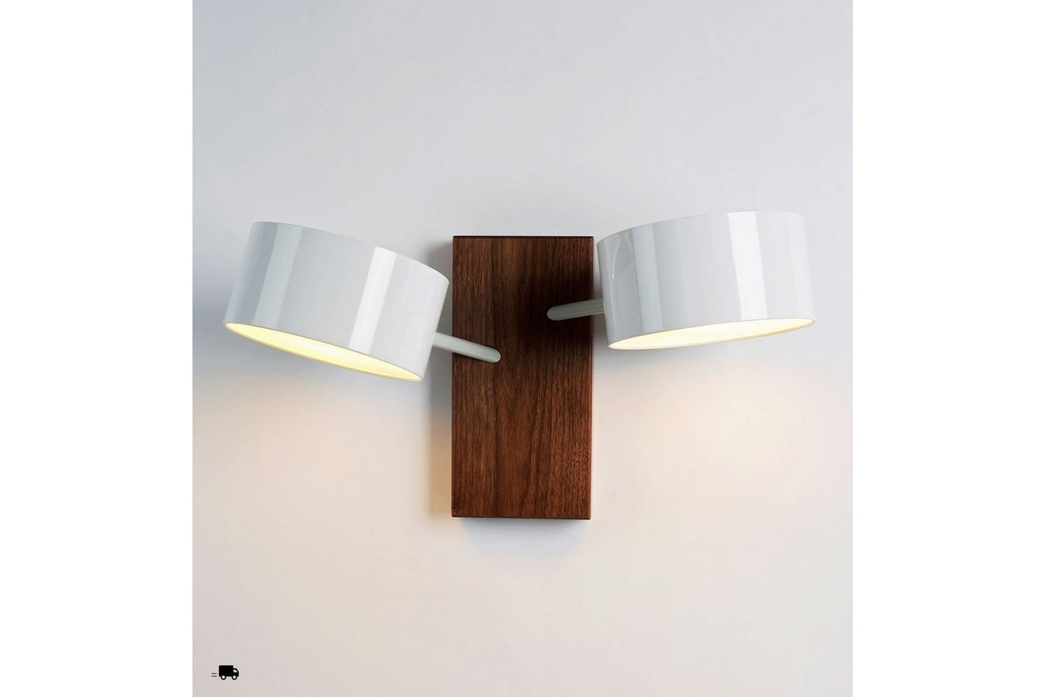 Excel Double Sconce Wall Lamp by Rich Brilliant Willing for Roll & Hill