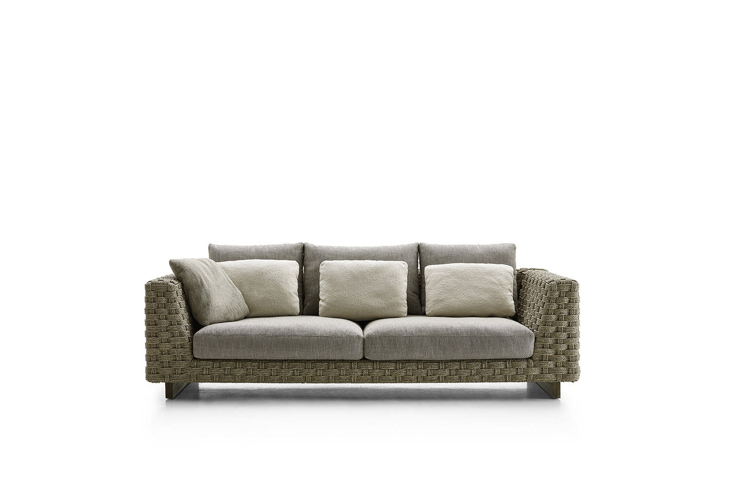 Ray Outdoor Natural Wood Base Sofa By Antonio Citterio For B B