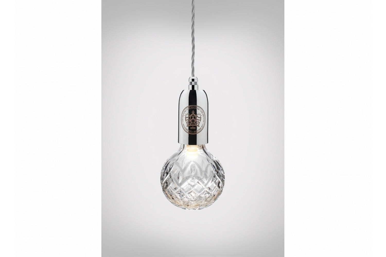Clear Crystal Bulb Pendant - Polished Chrome by Lee Broom