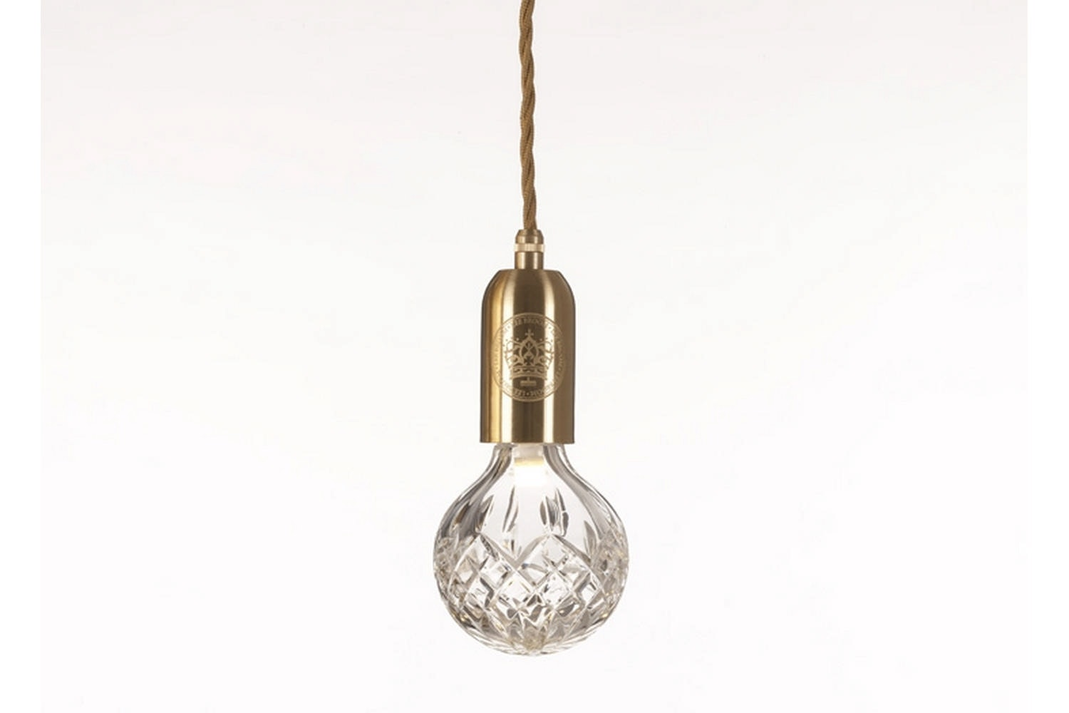 Clear Crystal Bulb Pendant - Brushed Brass by Lee Broom