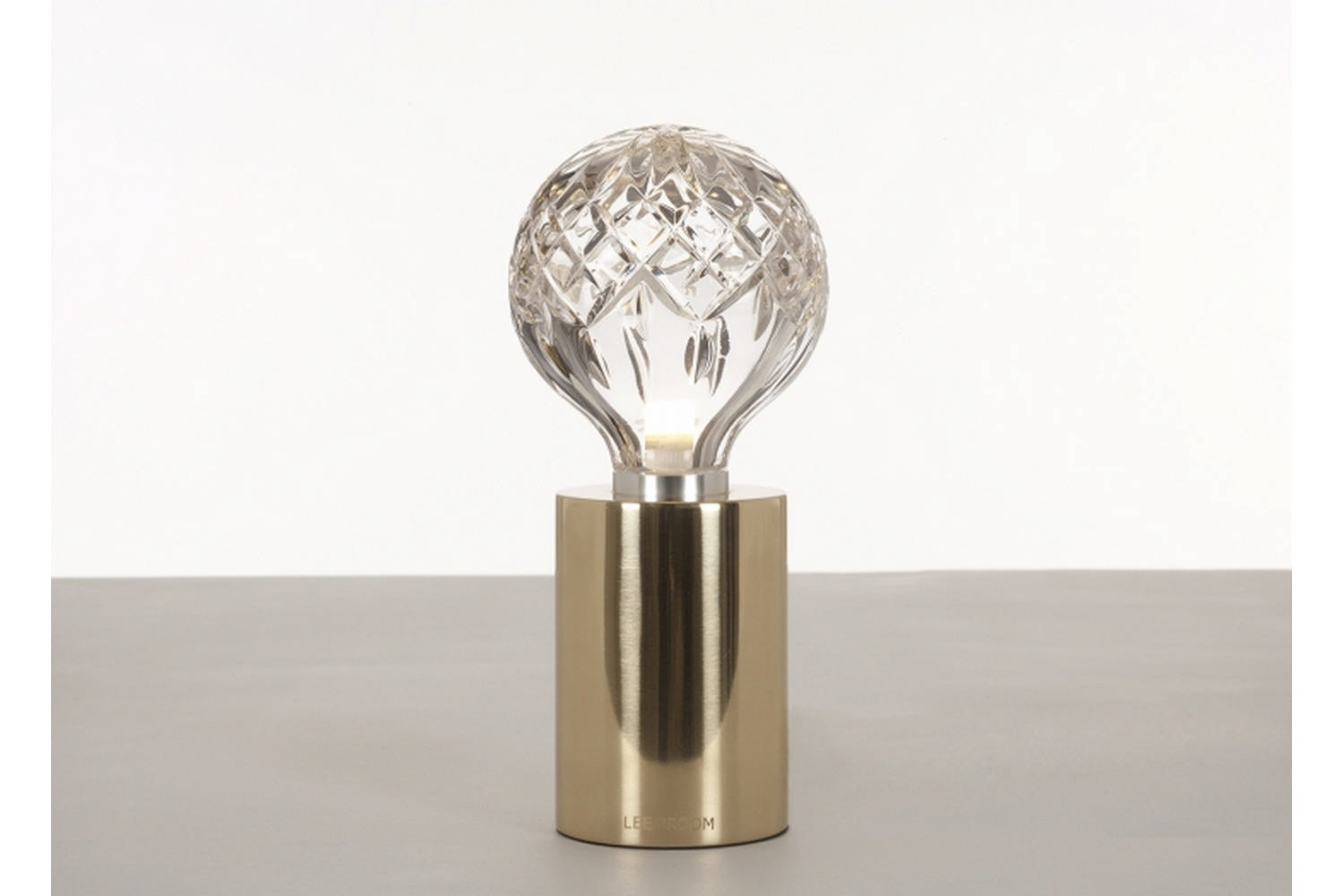 Clear Crystal Bulb Table Lamp - Polished Gold by Lee Broom