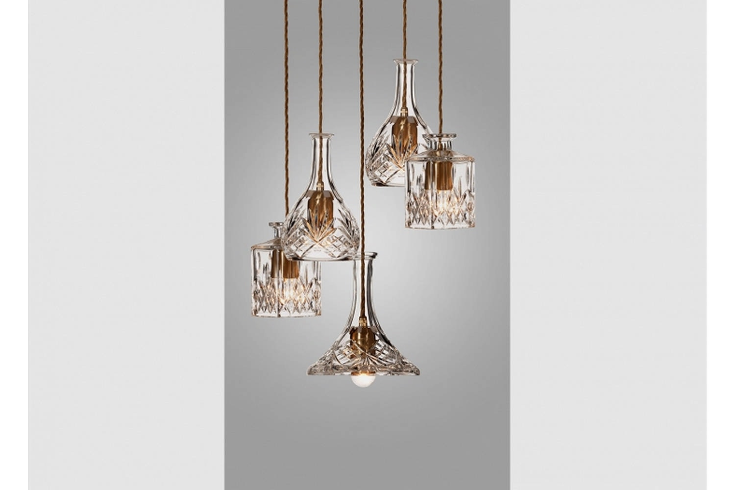 Decanterlight Chandelier 5 Piece by Lee Broom