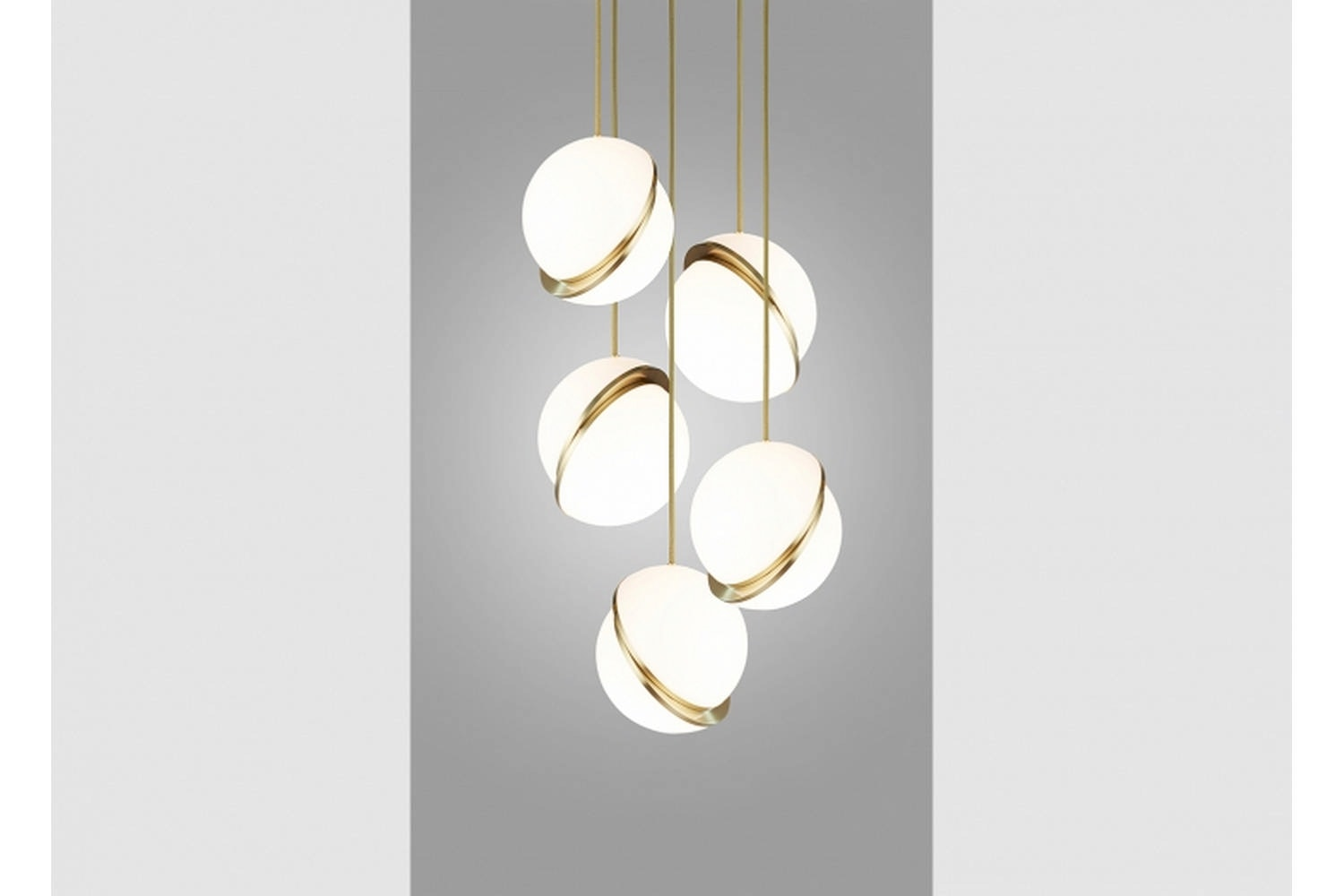 Mini Crescent Chandelier 5 Piece by Lee Broom
