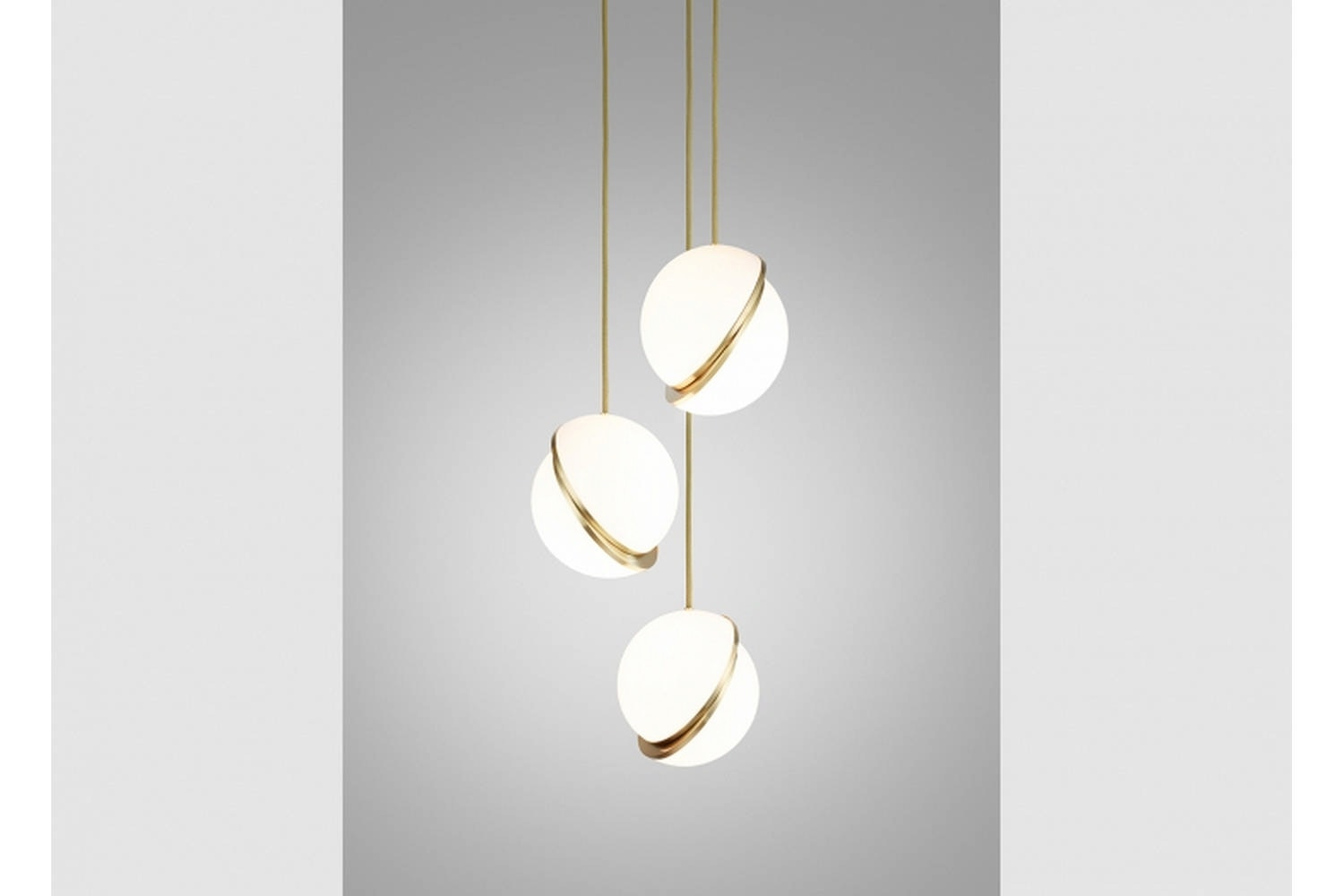 Mini Crescent Chandelier 3 Piece by Lee Broom