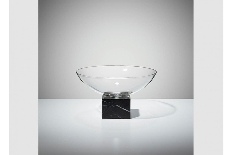 Podium Bowl - Black Marble by Lee Broom