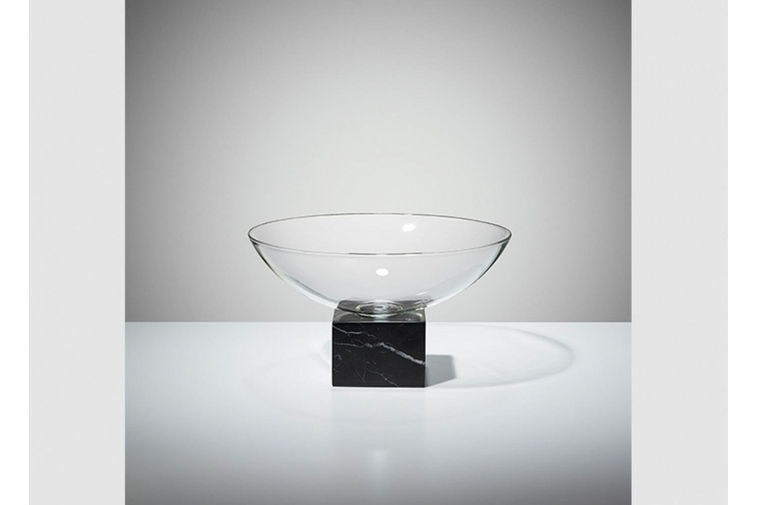 Podium Bowl - Black Marble by Lee Broom