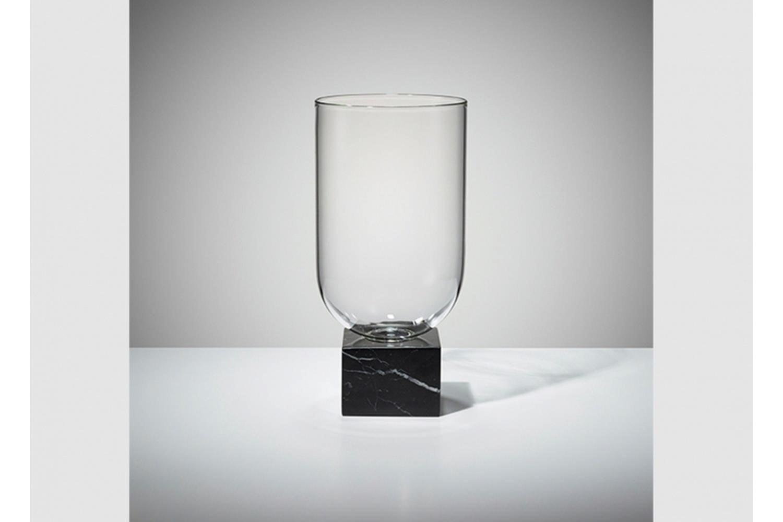 Podium Cylinder - Black Marble by Lee Broom