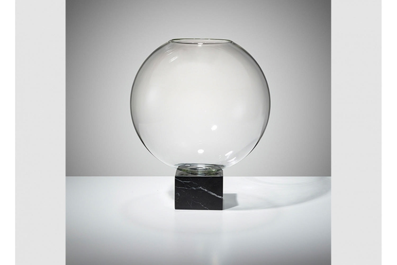 Podium Globe - Black Marble by Lee Broom