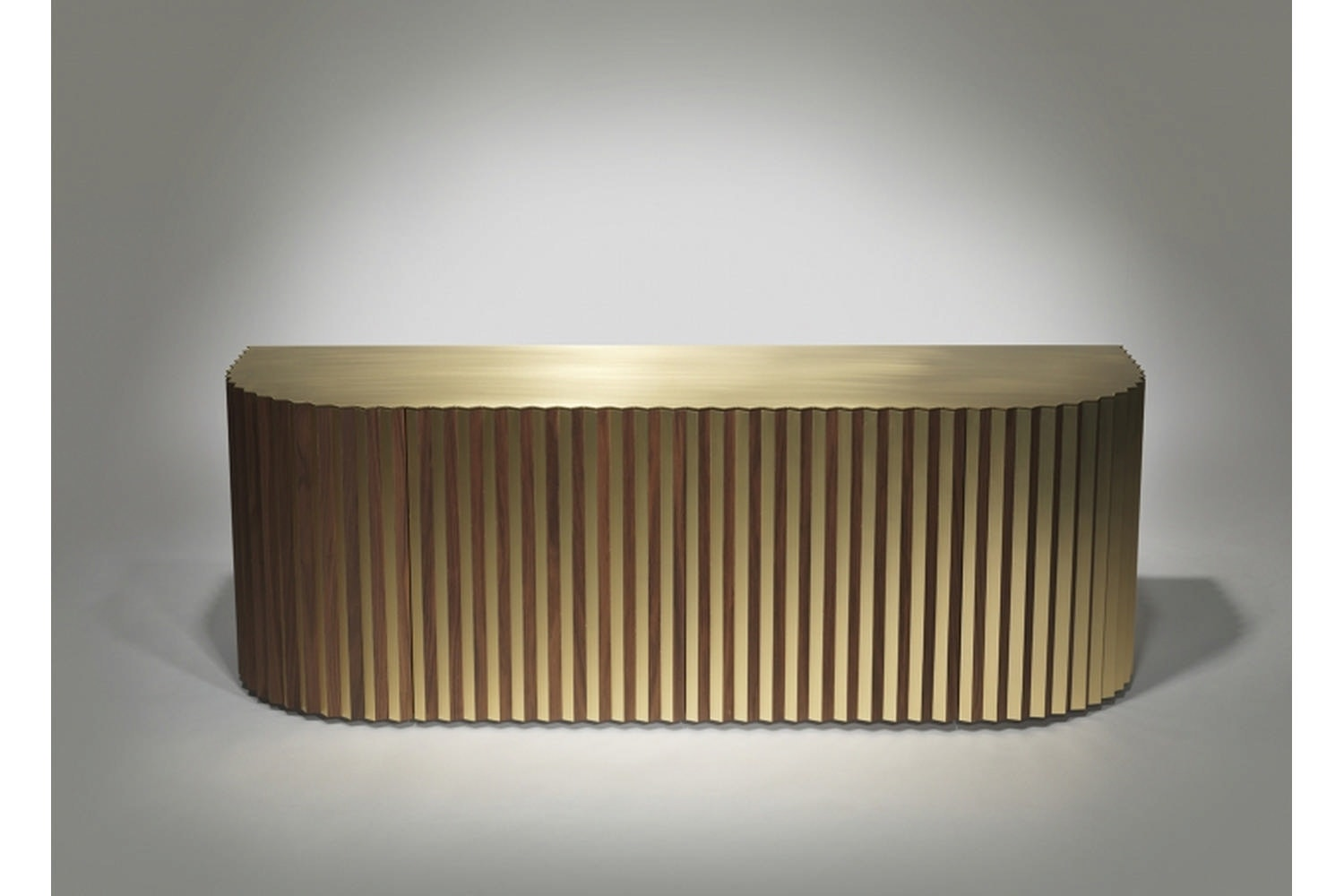 Shadow Cabinet - Brushed Brass by Lee Broom
