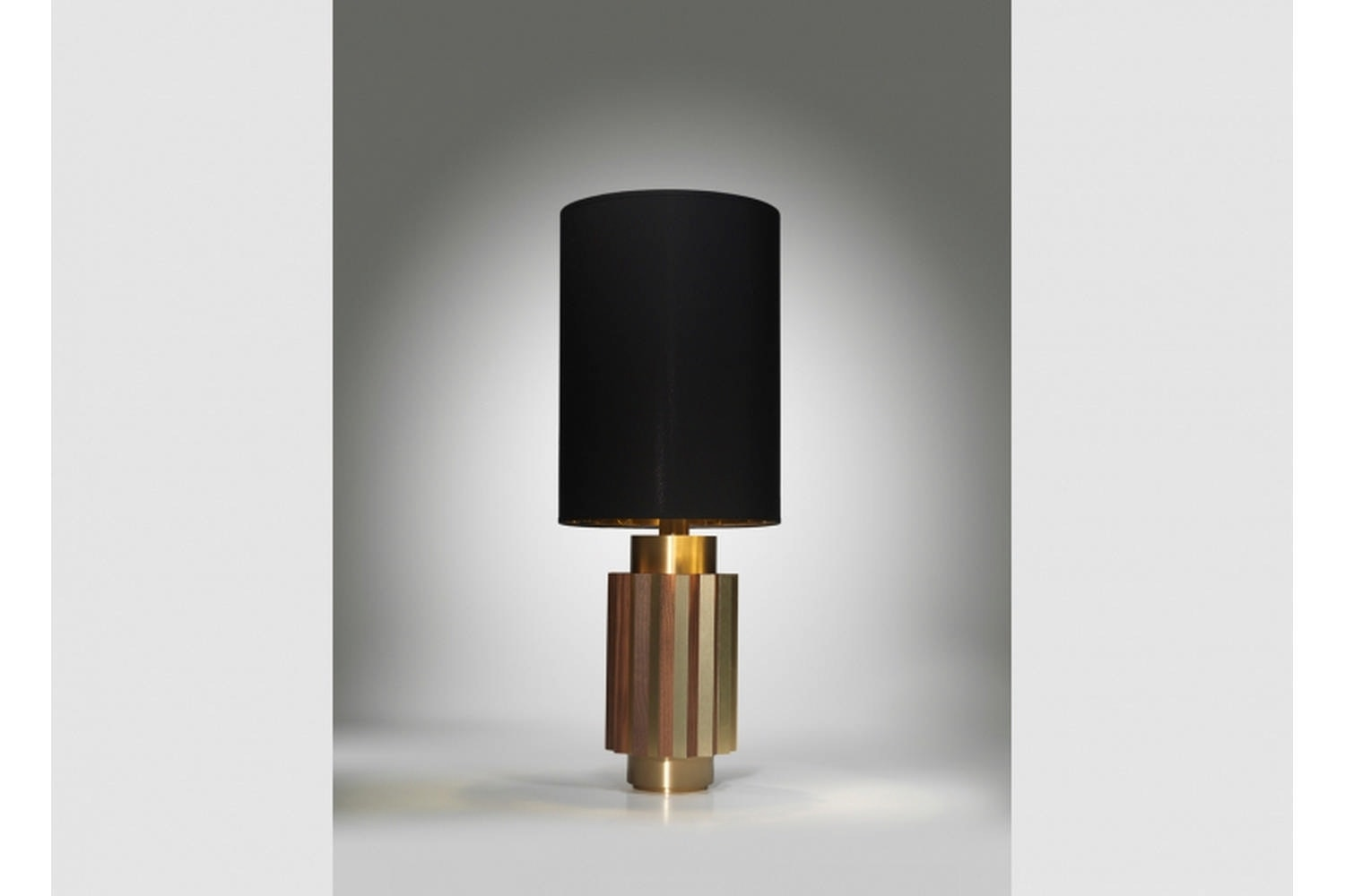 Shadow Table Lamp - Brushed Brass by Lee Broom
