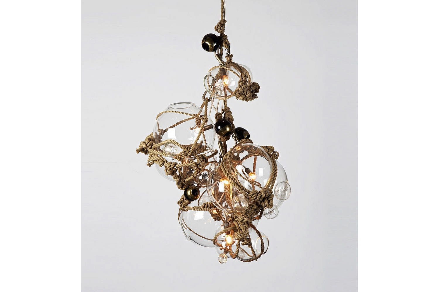 Knotty Bubbles Chandelier - 3 Lg, 2 Sm Bubbles, 5 Barnacles by Lindsey Adams Adelman for Roll & Hill