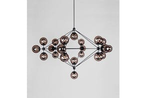 Modo Chandelier - 6 Sided 21 Globes by Jason Miller for Roll & Hill