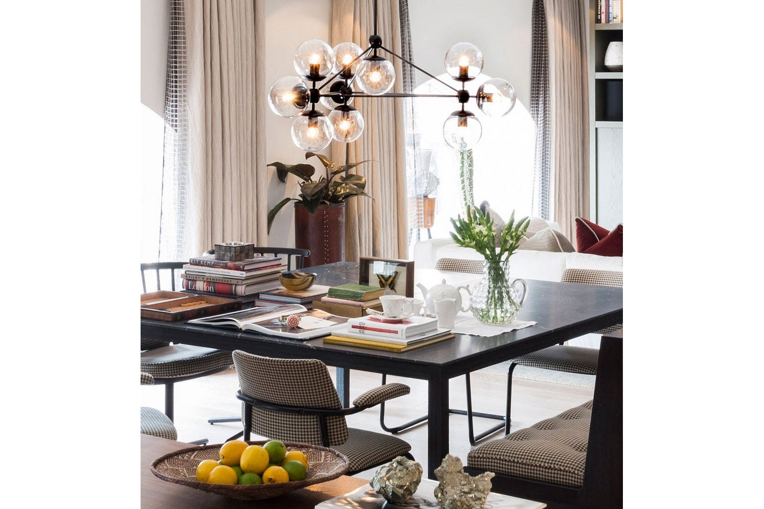 Modo Chandelier 3 Sided 10 Globes By Jason Miller For