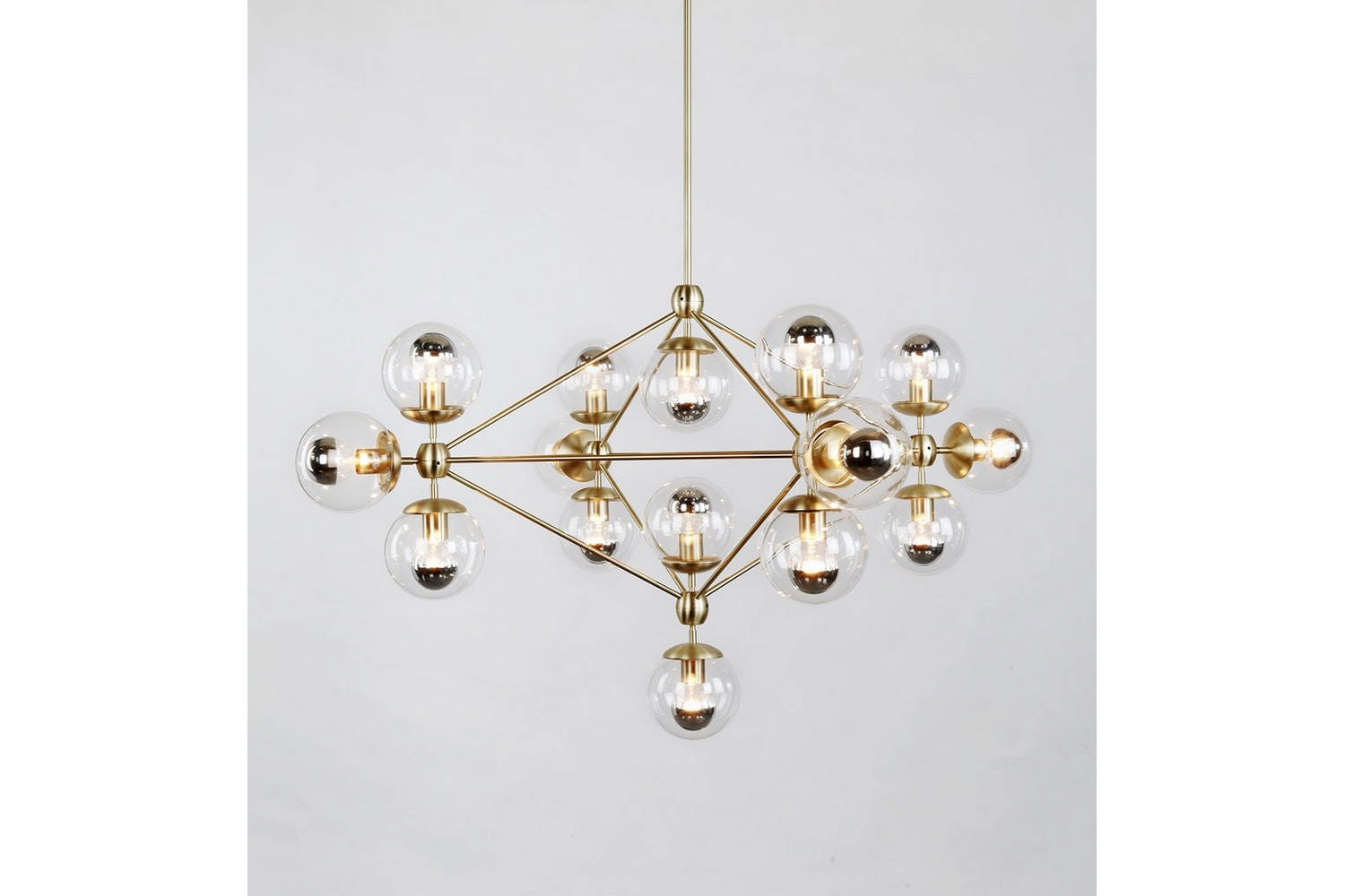 Modo Chandelier - 4 Sided 15 Globes by Jason Miller for Roll & Hill