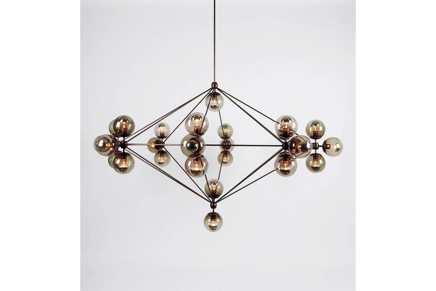 Modo Chandelier - 8 Sided, 27 Globes by Jason Miller for Roll & Hill