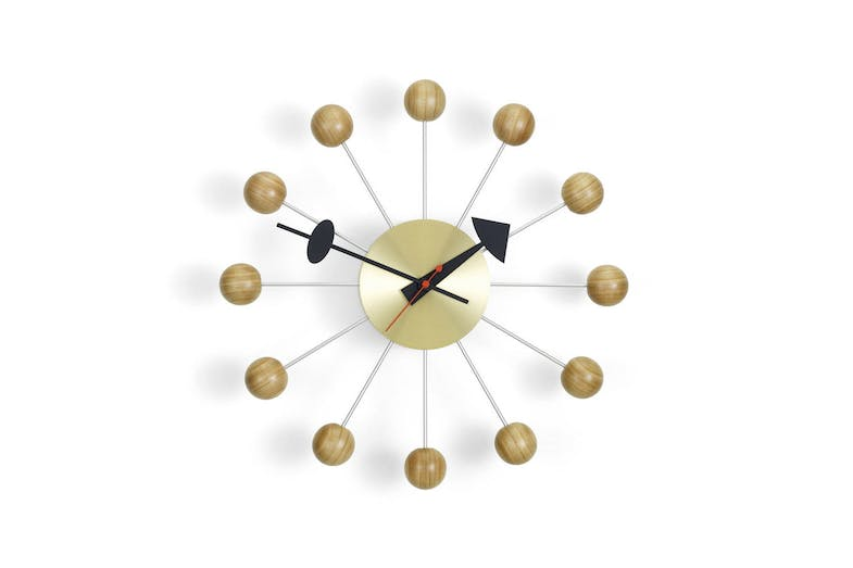 Ball Clock - Cherry by George Nelson for Vitra