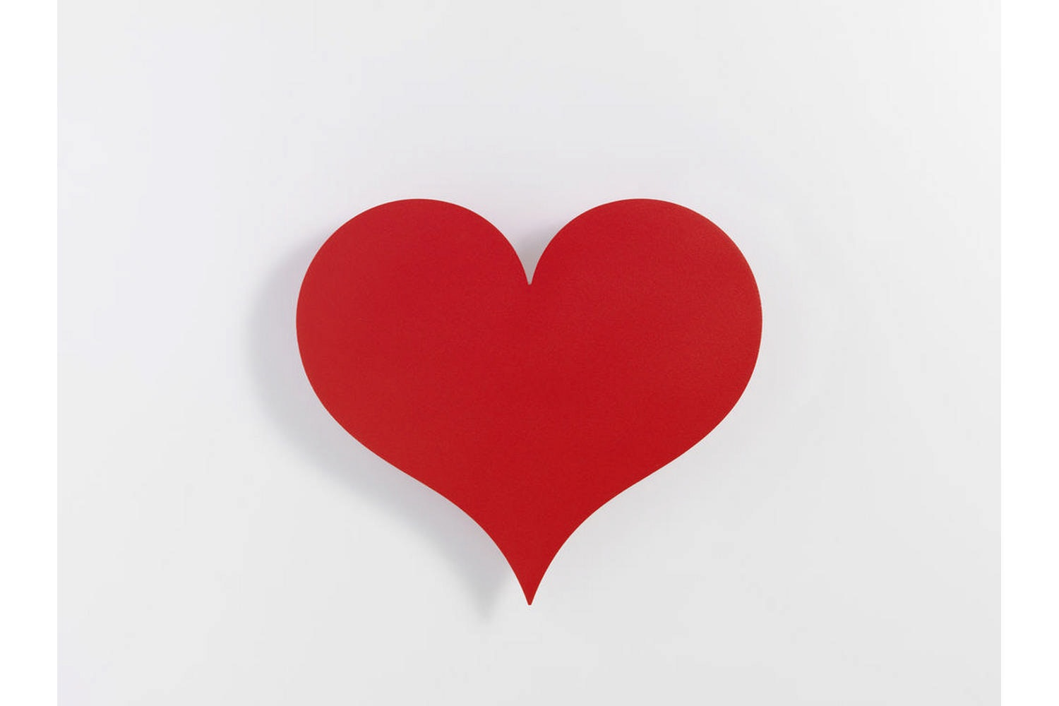 Metal Wall Relief - Little Heart Red by Alexander Girard for Vitra
