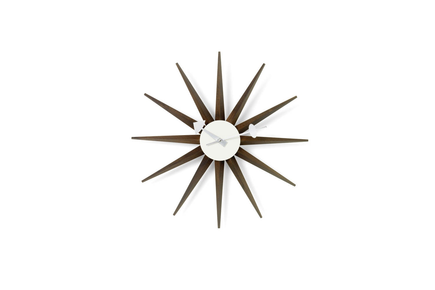 Sunburst Clock - Walnut by George Nelson for Vitra