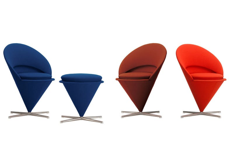 Cone Chair & Cone Stool by Verner Panton for Vitra