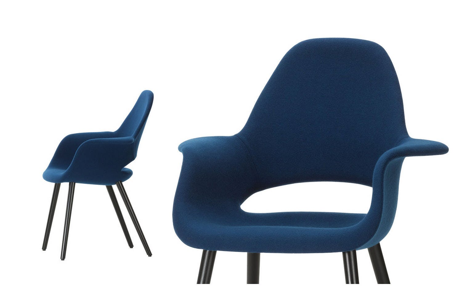 Vitra Chalres Eames : Organic conference chair with arms by charles eames & eero saarinen