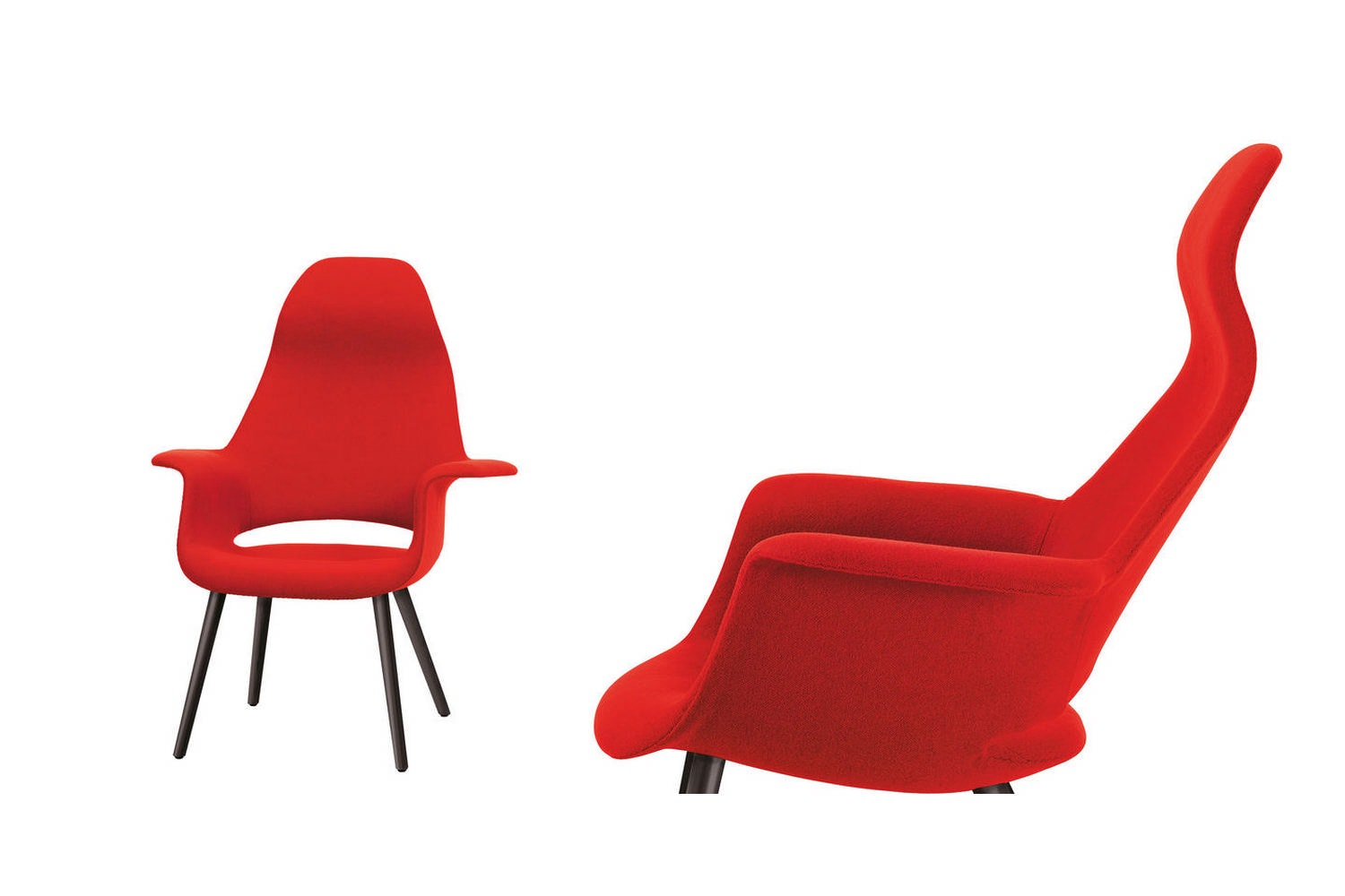 Organic Highback Chair with Arms by Charles Eames & Eero Saarinen for Vitra