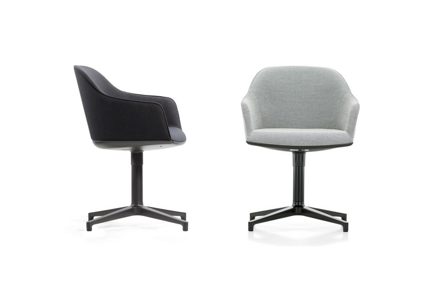 Softshell Chair with Four-Star Base by Ronan & Erwan Bouroullec for Vitra