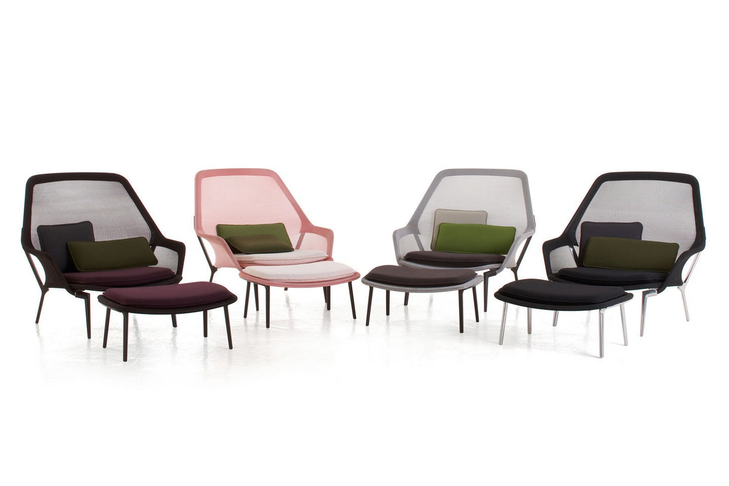 Slow Chair & Ottoman by Ronan & Erwan Bouroullec for Vitra