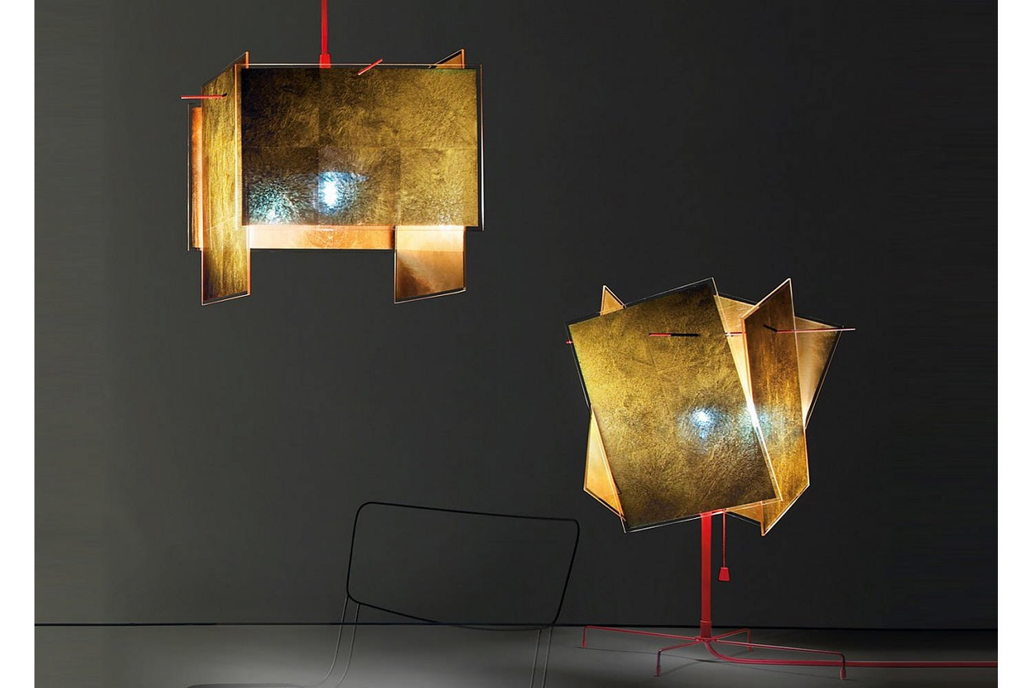 24 Karat Blau Suspension Lamp by Axel Schmid for Ingo Maurer