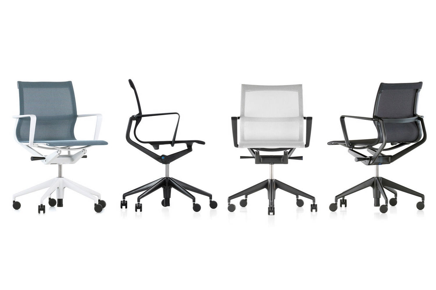 Physix Chair with Arms on Castors by Alberto Meda for Vitra