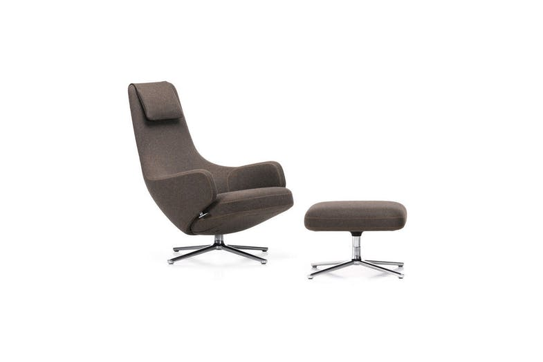 Repos Amp Grand Repos Armchair Amp Ottoman By Antonio Citterio For Vitra Space Furniture