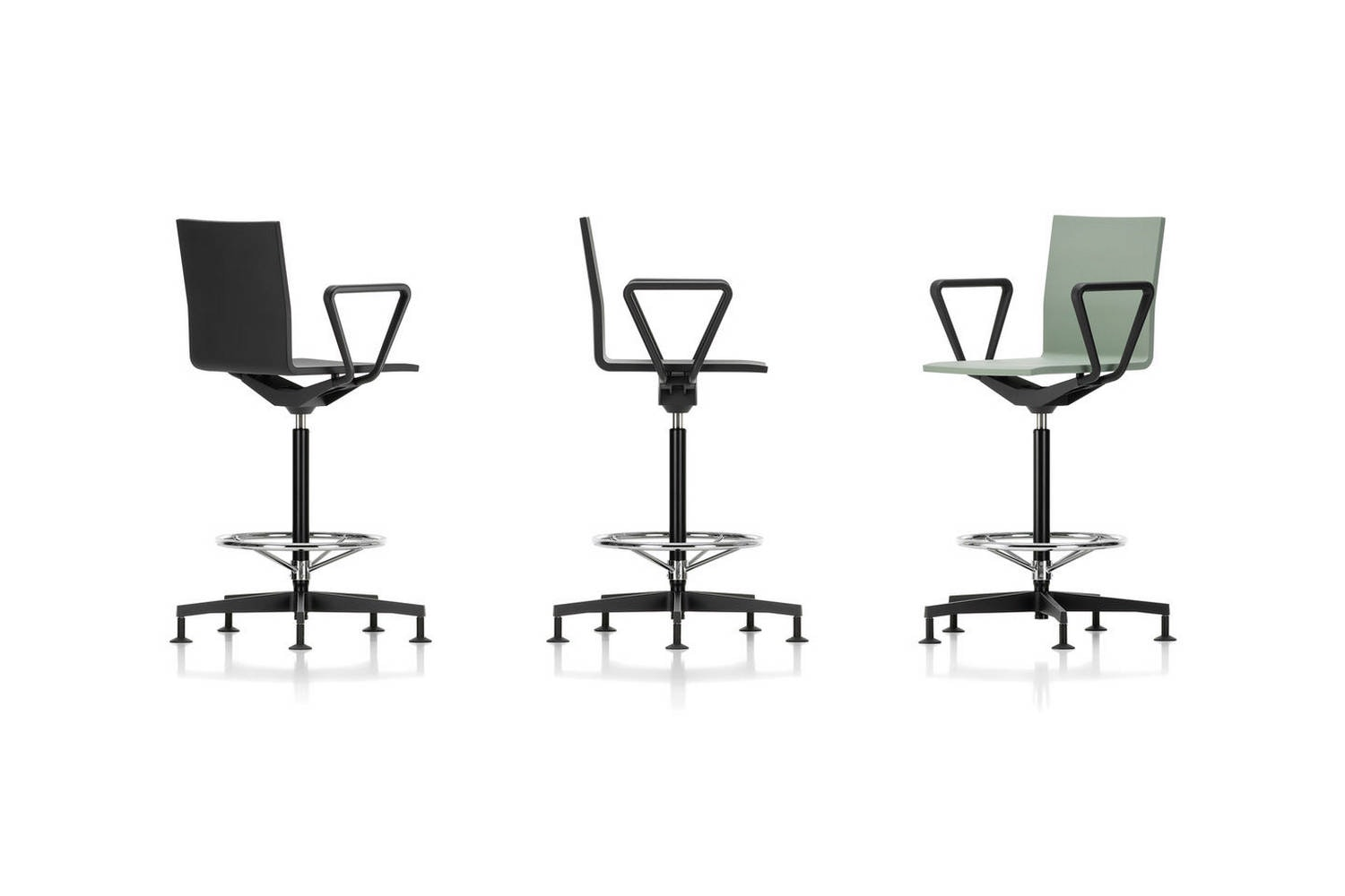 .04 Counter Chair with Arms on Castors by Maarten van Severen for Vitra