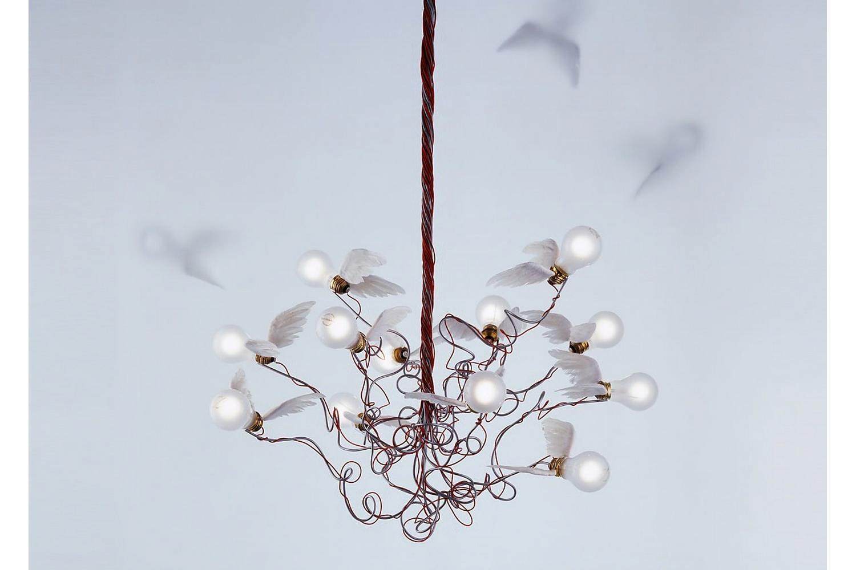 Birdie Suspension Lamp by Ingo Maurer for Ingo Maurer