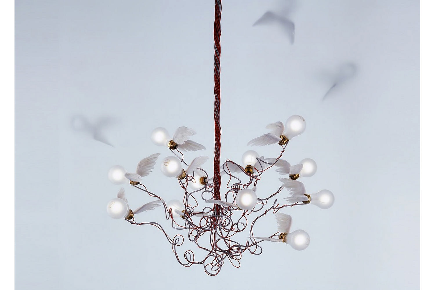 Birdie Suspension Lamp by Ingo Maurer for Ingo Maurer