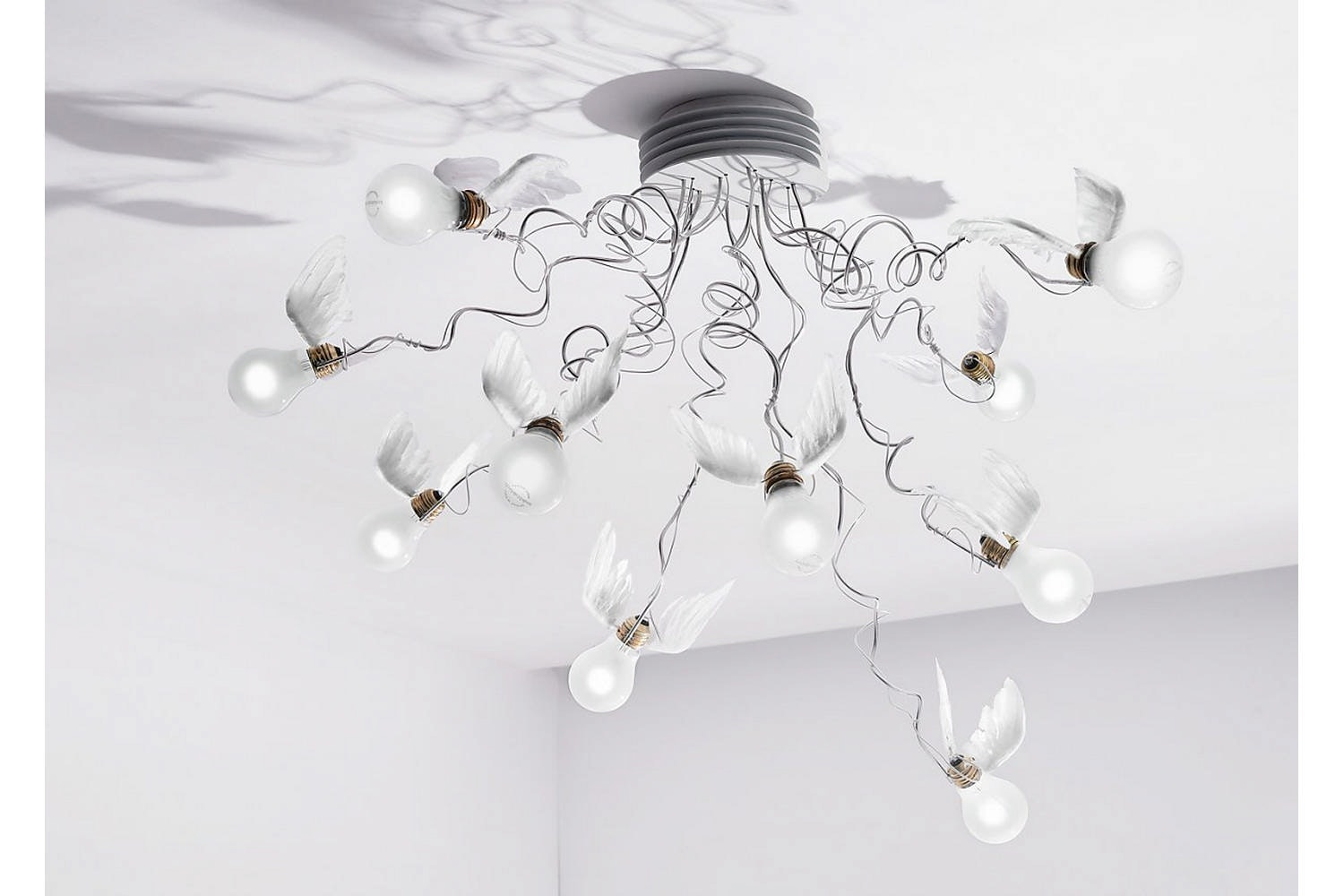 Birdie's Nest Ceiling Lamp by Ingo Maurer for Ingo Maurer