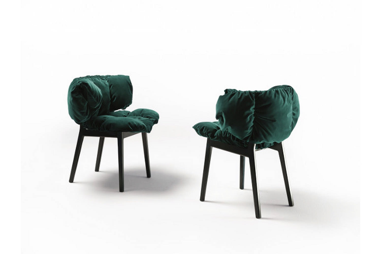 Blue Velvet Chair by F. e H. Campana for Edra