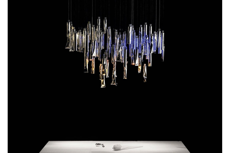 Tu-Be Luster Suspension Lamp by Ingo Maurer, Ron Arad for Ingo Maurer