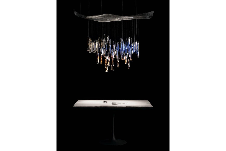Tu Be Luster Suspension Lamp By Ingo Maurer Ron Arad For