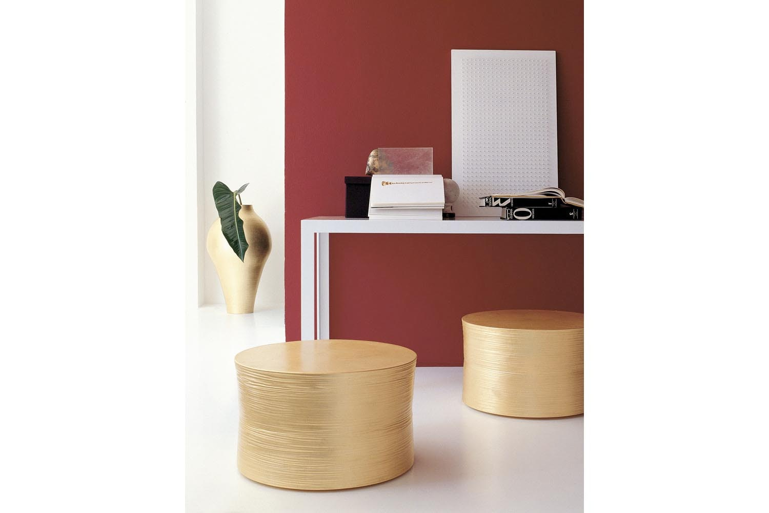 Gold Collection Stool by Marcel Wanders for B&B Italia