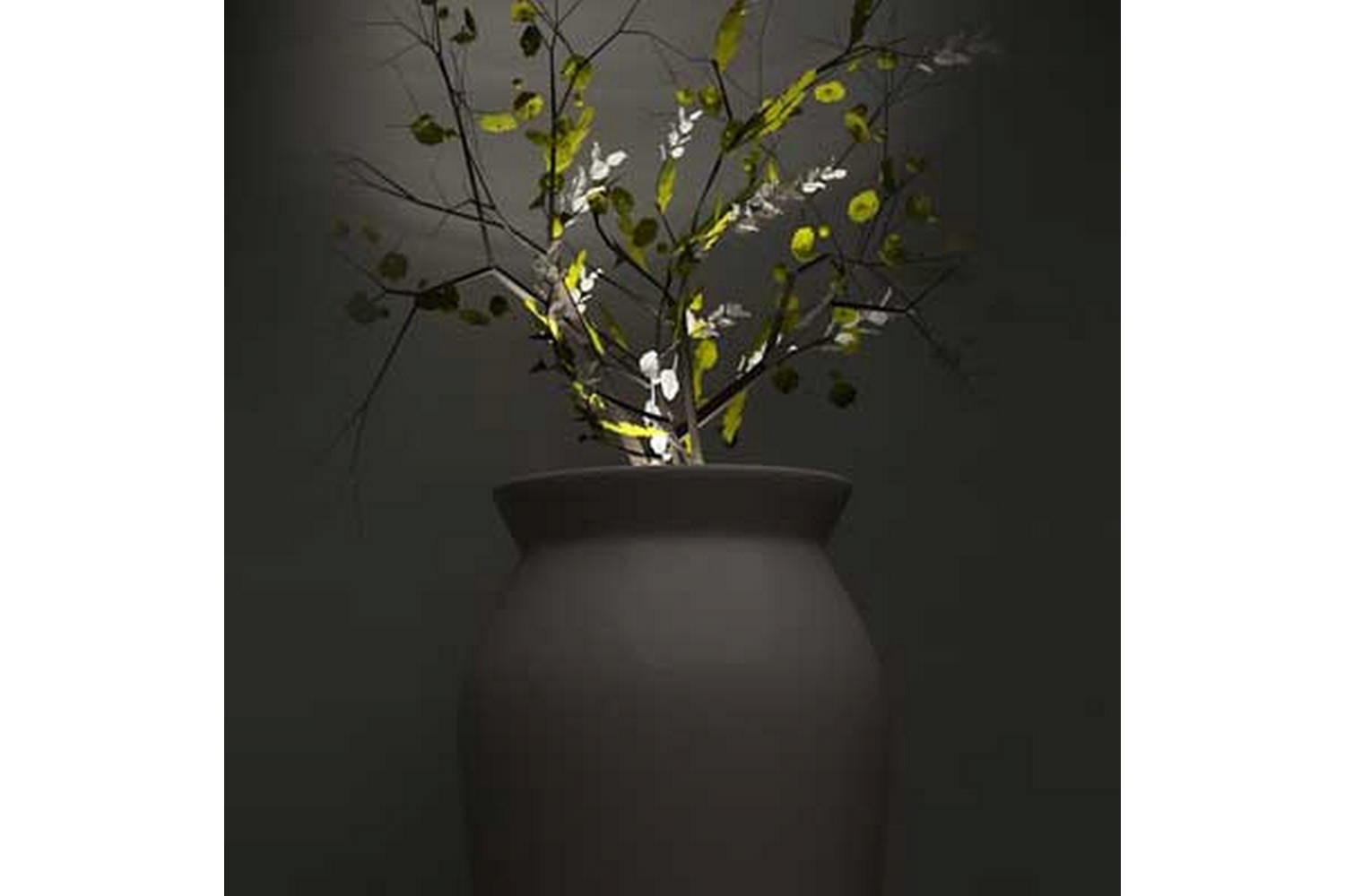 June Pot with Light by Christophe Pillet for Serralunga