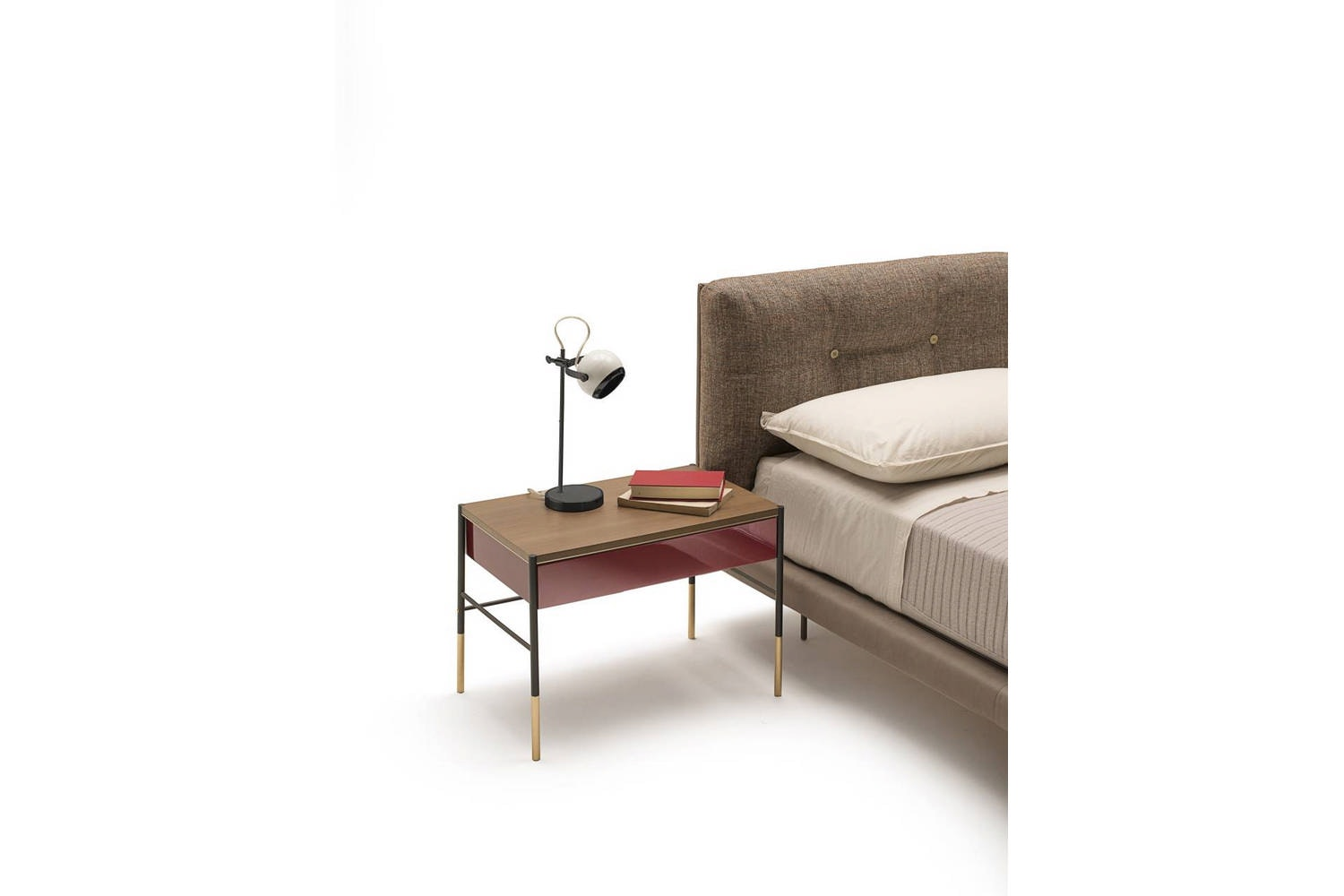 Era Comodino Bedside Table by David Lopez Quincoces for Living Divani
