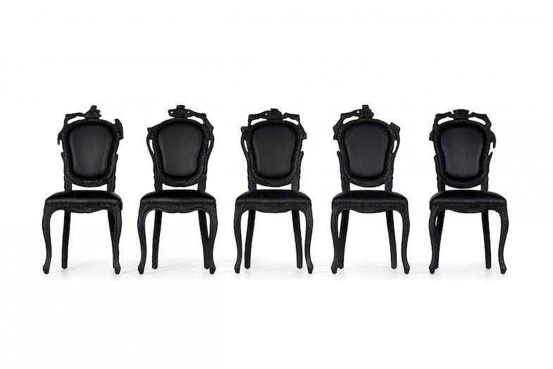 Smoke Dining Chair by Maarten Baas for Moooi