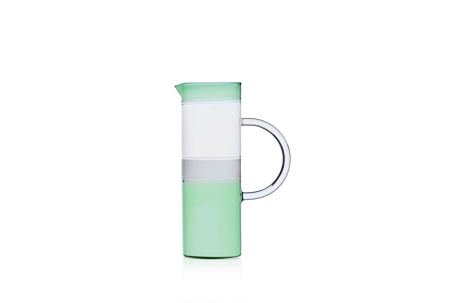 Tequila Sunrise Jug Cylindrical - Green/Smoke/Clear by Mist-o for Ichendorf Milano