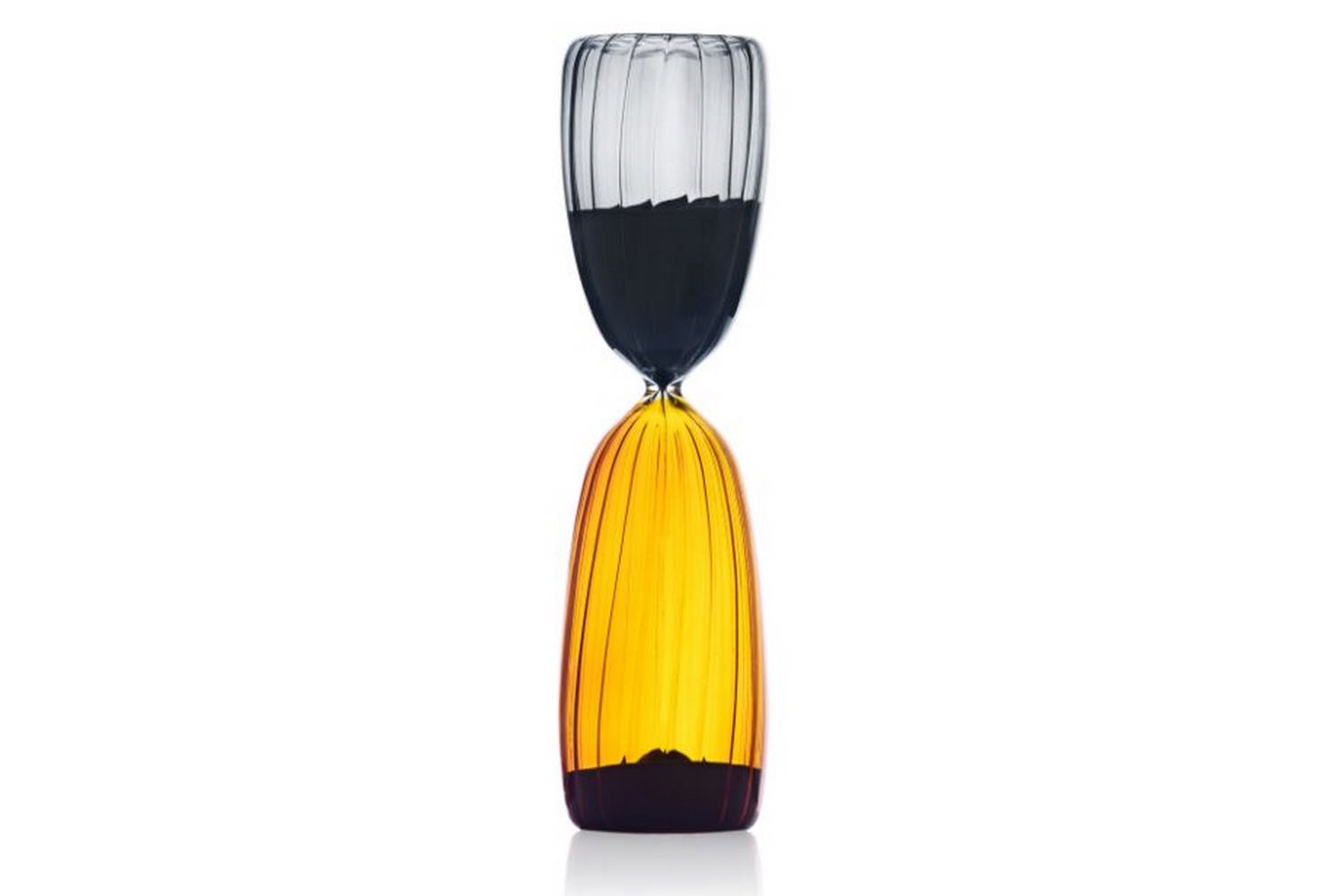 Times Hourglass 15 Minutes - Amber/Smoke by Denis Guidone for Ichendorf Milano