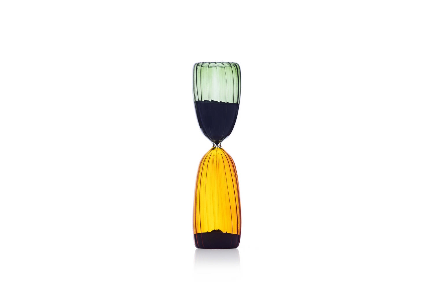 Times Hourglass 15 Minutes - Green/Amber by Denis Guidone for Ichendorf Milano