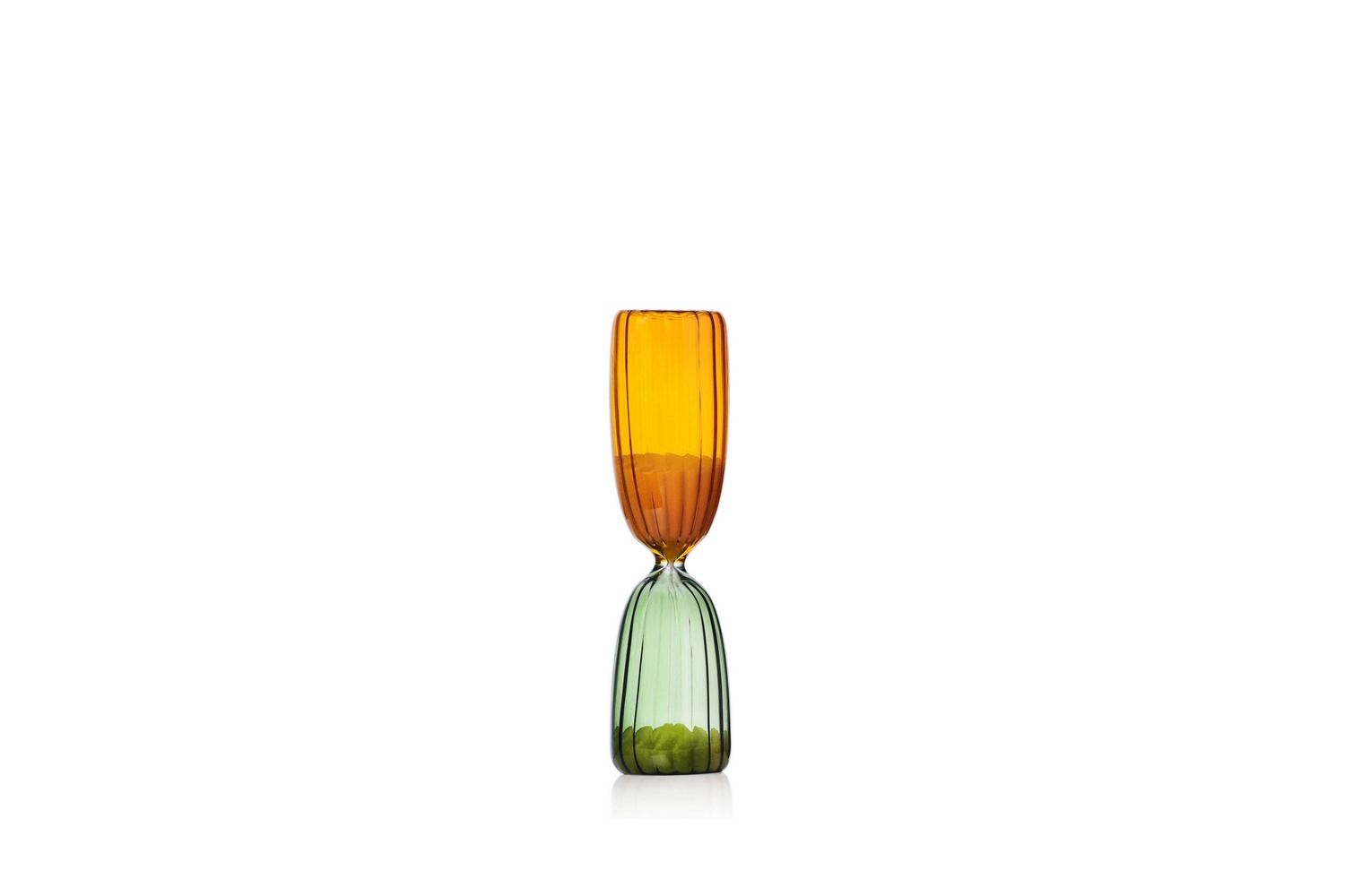 Times Hourglass 5 Minutes - Green/Amber by Denis Guidone for Ichendorf Milano