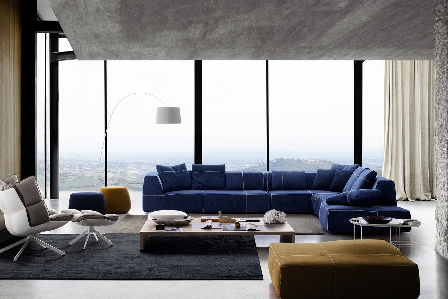 Bend Sofa With Right Chaise By Patricia Urquiola For Bb Italia