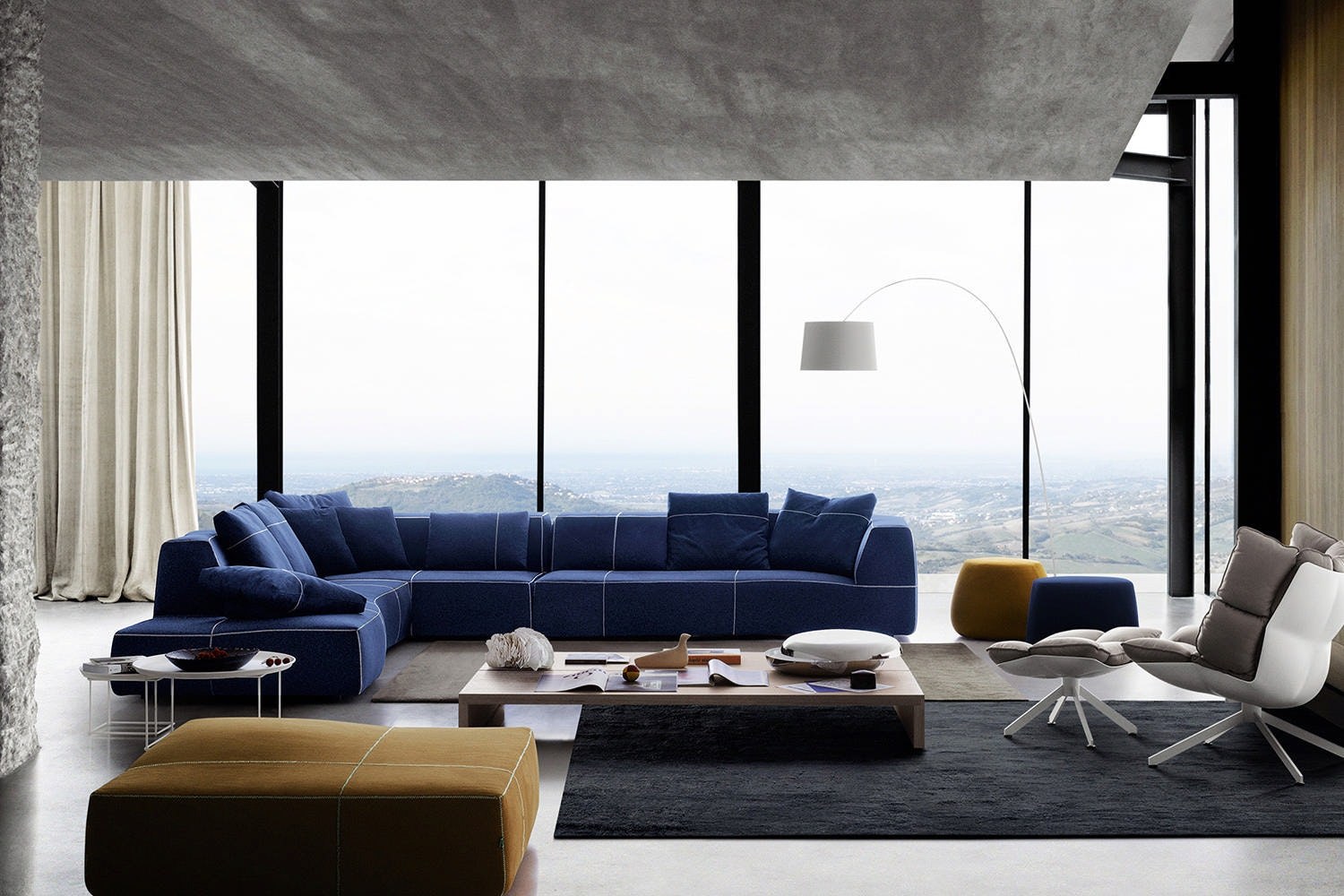 Bend-Sofa with Left Chaise by Patricia Urquiola for B&B Italia
