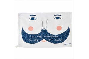 Use my Moustache Tea Towel by Donna Wilson
