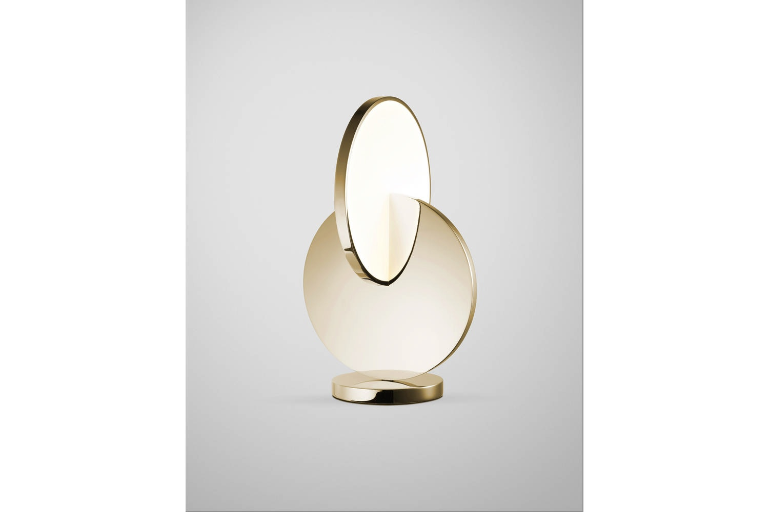 Eclipse Table Lamp - Polished Gold by Lee Broom