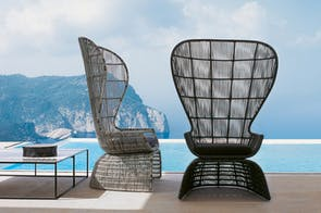 Crinoline Armchair High Back by Patricia Urquiola for B&B Italia